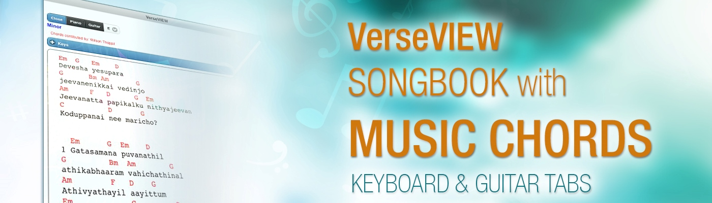 VerseVIEW Music Chords